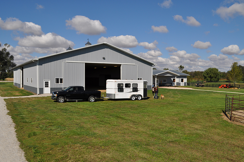 Equestrian Buildings, Riding Arenas, Horse Barns and Shelters.